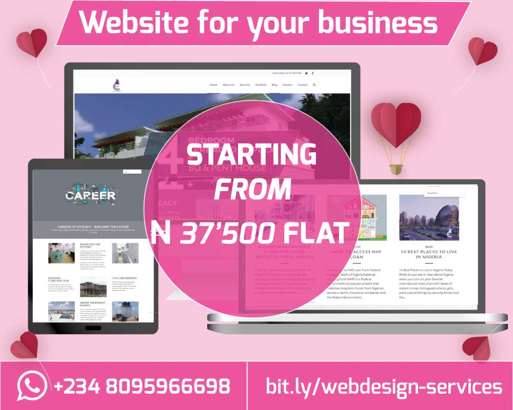 Get a website for your business starting from 37500