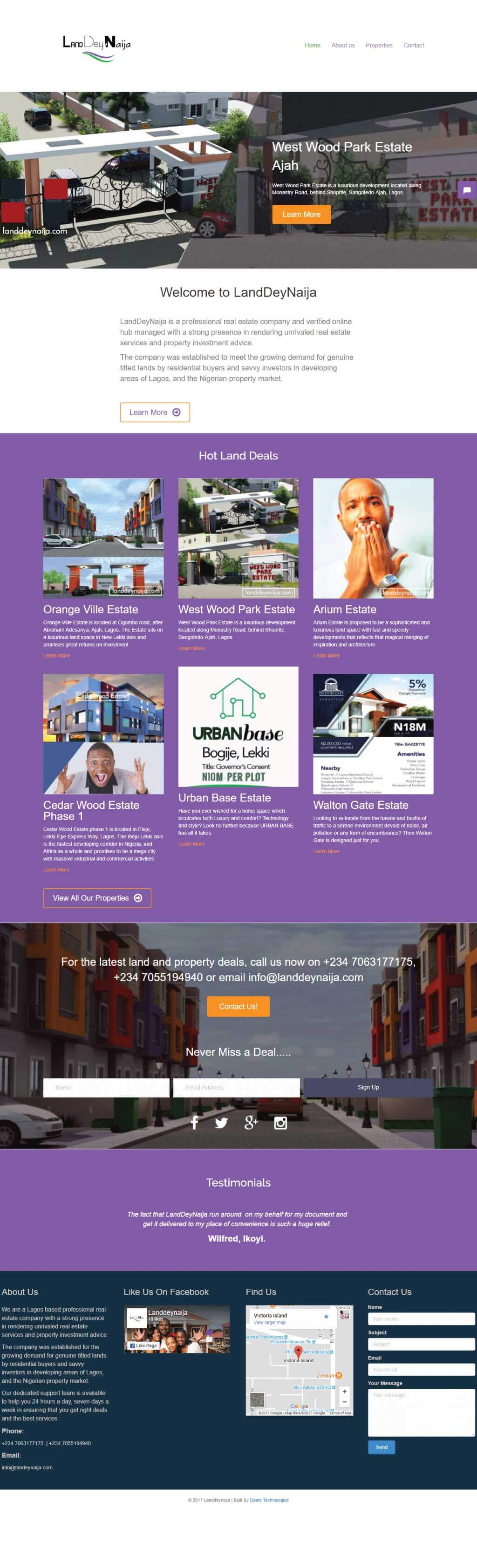 One of our recent Website Design work - Landdeynaija.com