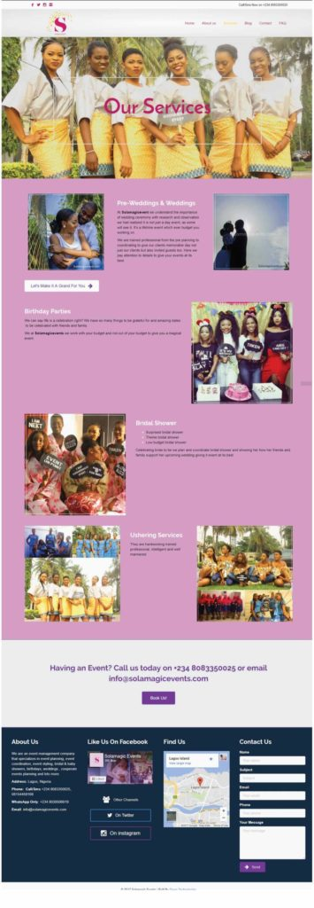 Services Page Solamagiceevents