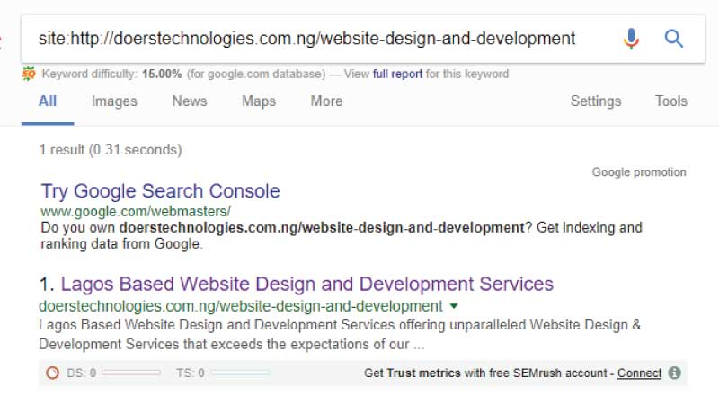 How to find out if your webpage is indexed by Google